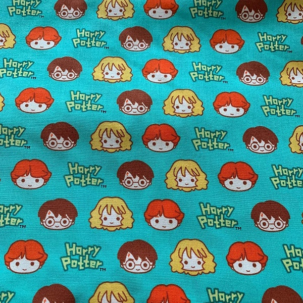Harry, Ron, and Hermione fabric