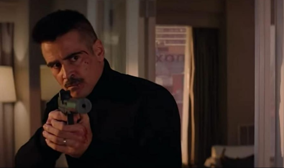 """Colin Farrell is pictured in a film still from """"Ava""""."""