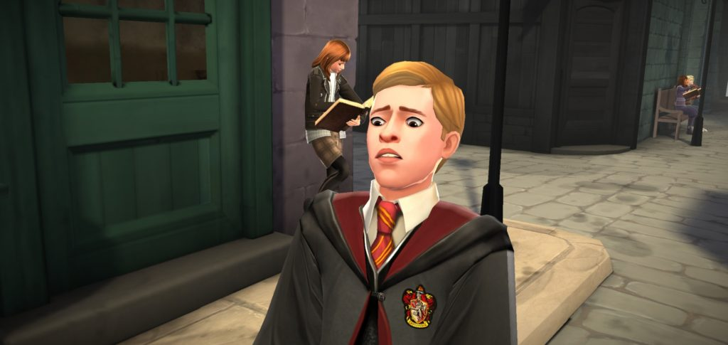 "Ben Copper makes his patented Ben face in ""Hogwarts Mystery""."