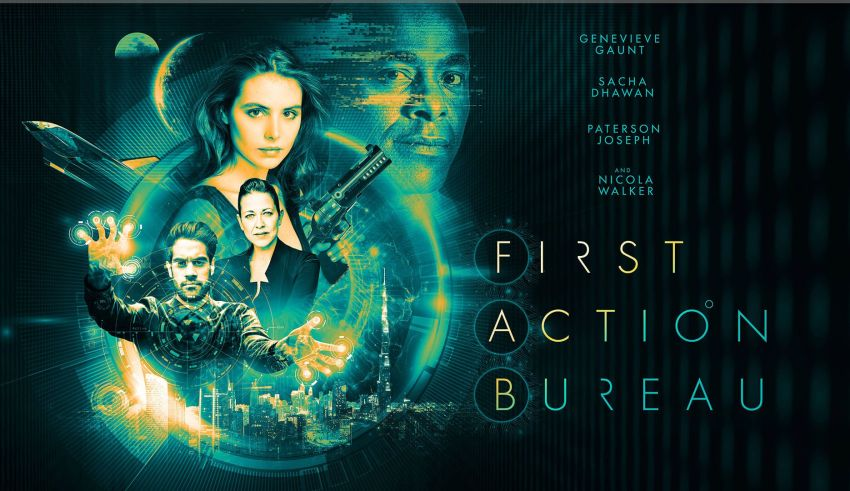 """Genevieve Gaunt is pictured in a promotional poster for """"First Action Bureau""""."""
