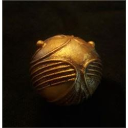 "Used in the first two ""Potter"" movies, this Golden Snitch even has a filled in hole, which had a pole in when used on set."