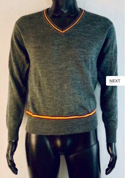 The auctioneer suggests that this sweater may have been worn by Daniel Radcliffe.