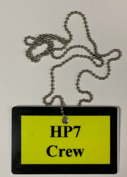 This badge would have allowed crew members access to sets and filming locations.