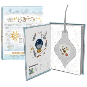 "The packaging of the ""Harry Potter"" Season's Greetings chibi coin"
