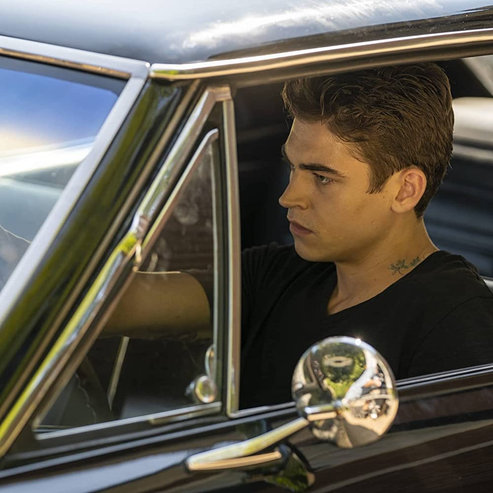 """Hero Fiennes-Tiffin has obvious road rage in """"After We Collided""""."""