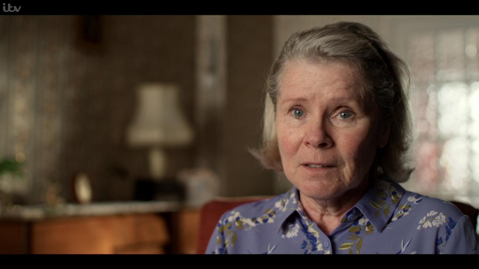 """Imelda Staunton is the picture of sympathy (yeah, right) in """"Flesh and Blood""""."""