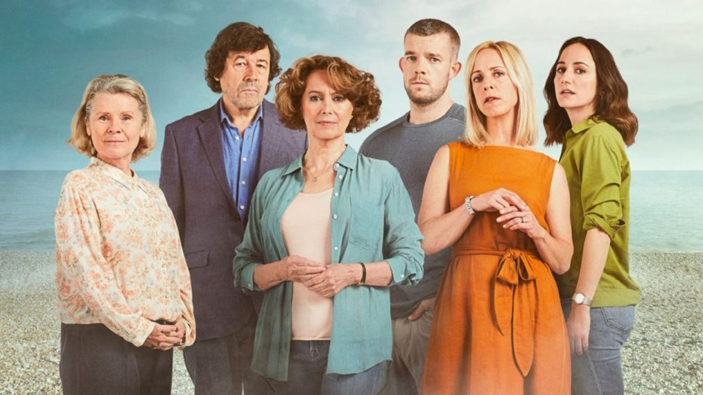 """Imelda Staunton is pictured in a cast photo from """"Flesh and Blood""""."""