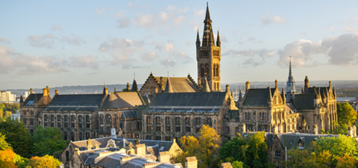 University of Glasgow's campus is pictured.