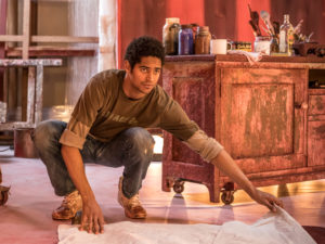 Alfred Enoch shines in the London production of Tony-winning play, Red.