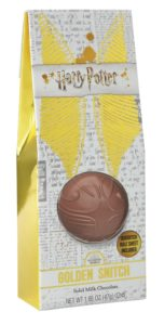 Jelly Belly's chocolate Golden Snitch is pictured.