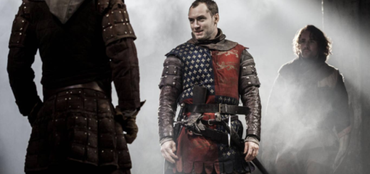 Jude Law portraying Henry V is pictured.