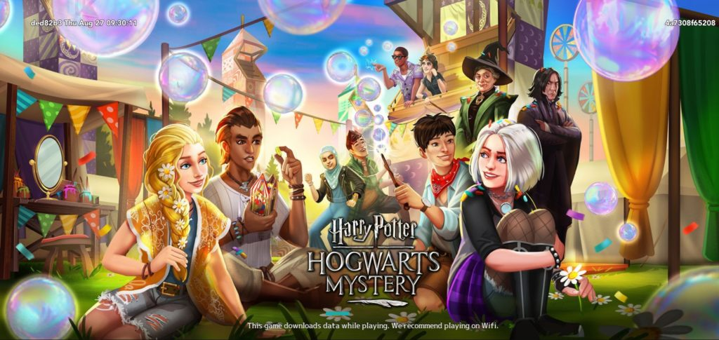 """Pictured is the loading screen for the new Festival Fun side quest in """"Hogwarts Mystery""""."""