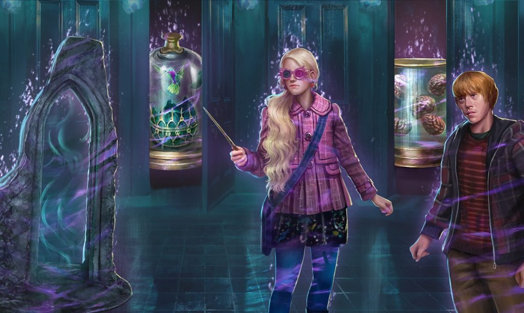 """Pictured is a graphic for Part 1 of the Department of Mysteries Brilliant Event in """"Wizards Unite""""."""