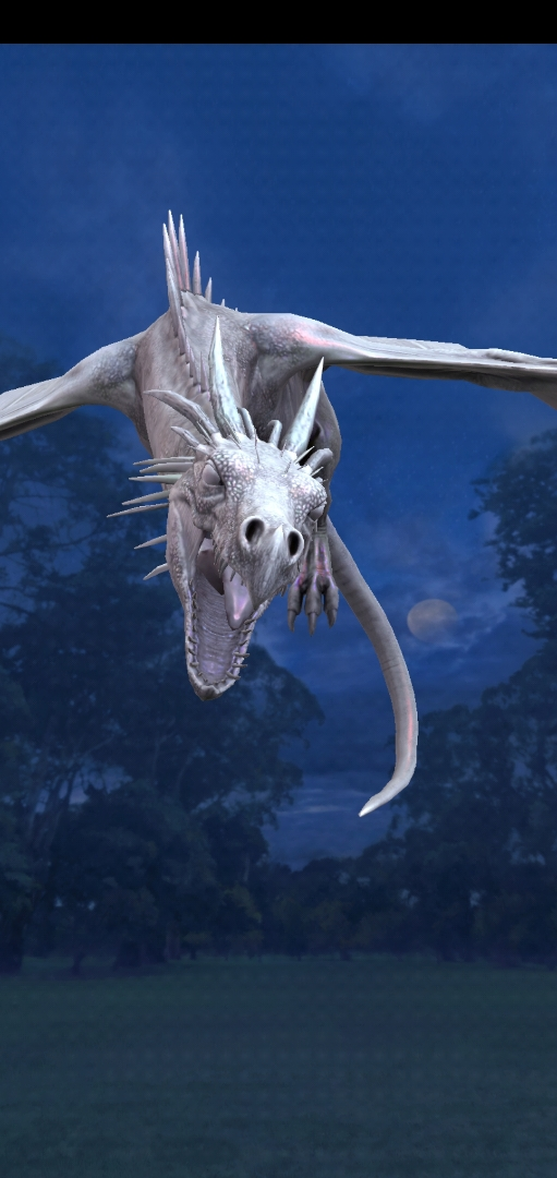 """Pictured is an Antipodean Opaleye during the Dragon Week event in """"Wizards Unite""""."""