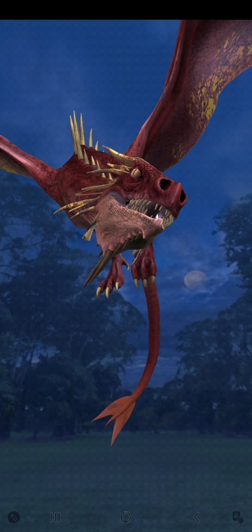 """Pictured is a Chinese Fireball during the Dragon Week event in """"Wizards Unite""""."""