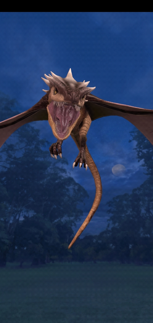 """Pictured is a Peruvian Vipertooth during the Dragon Week event in """"Wizards Unite""""."""