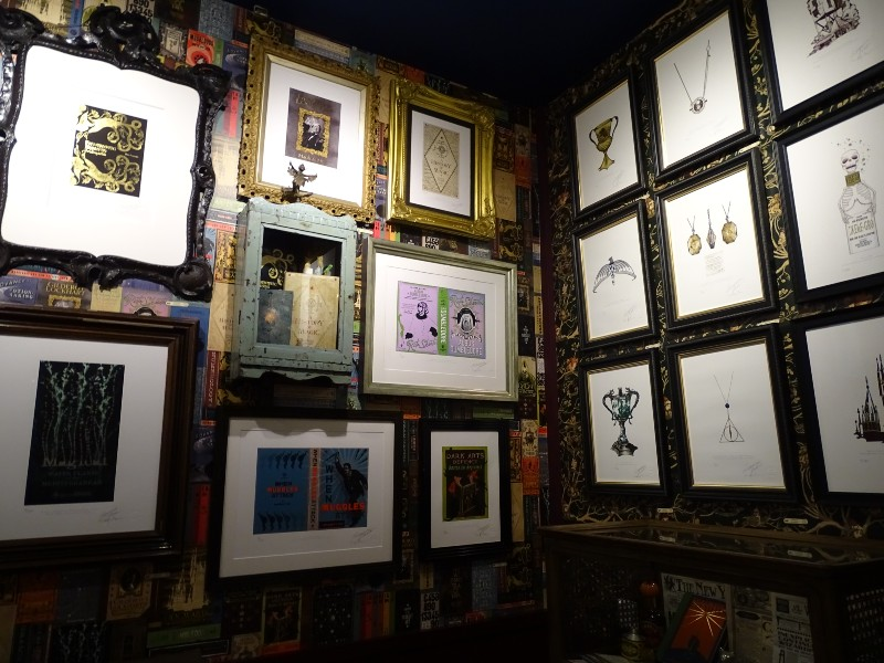 Each corner is dedicated to a selection of prints.