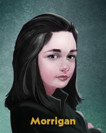 Portrait drawing of Morrigan from 'Nevermoor'