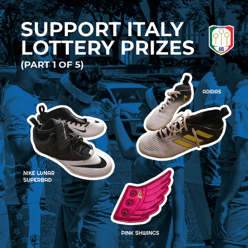 Three of the prizes are two pairs of athletic shoes and pink Shwings.