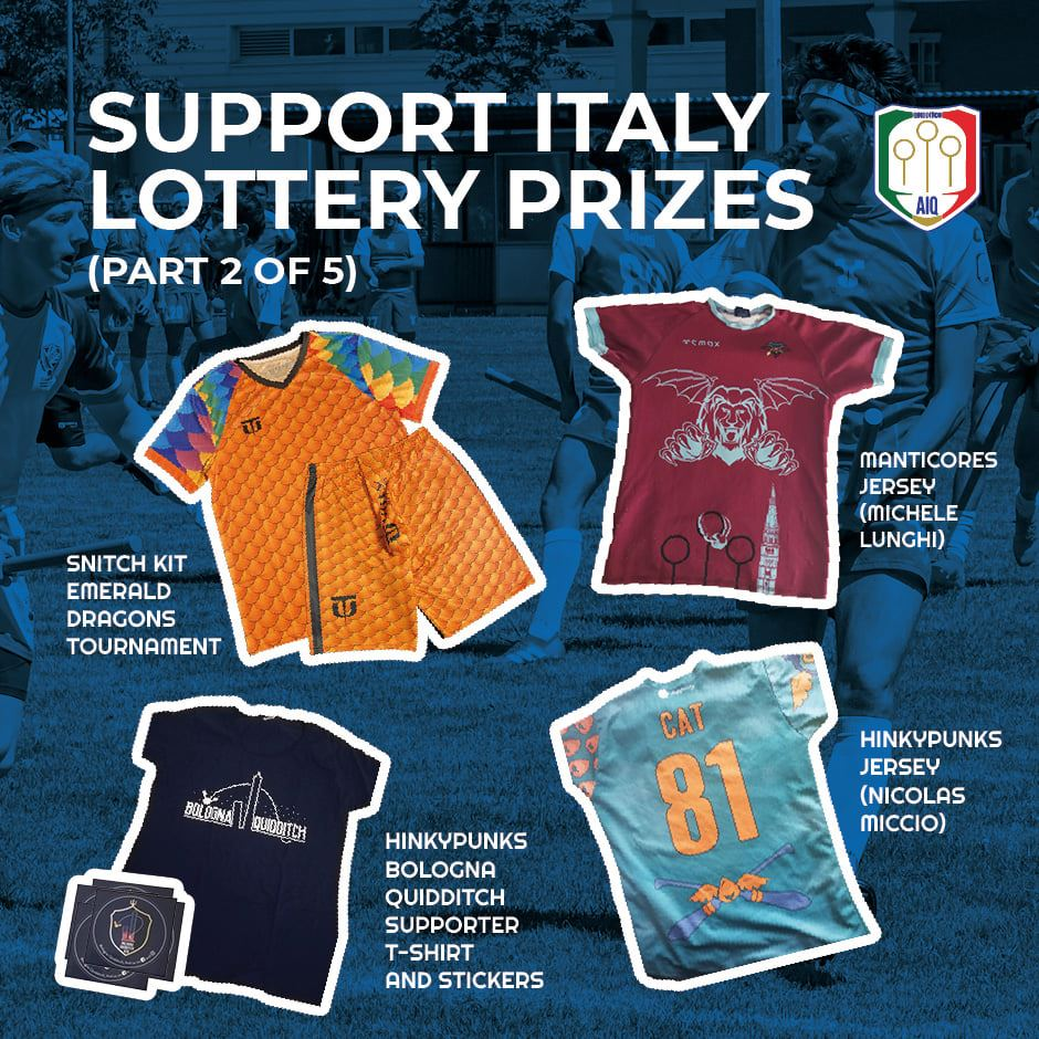 Four of the prizes are one Snitch kit, two jerseys, and one supporter T-shirt.