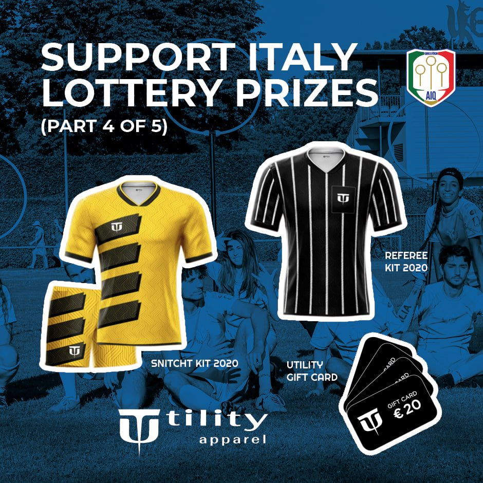 Utility Apparel supported Italy by donating a few prizes.