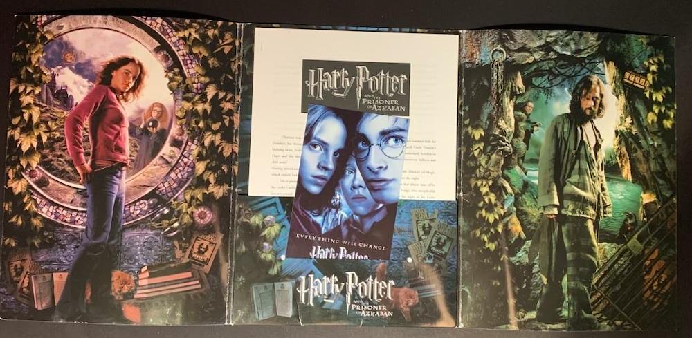 "A press kit for ""Harry Potter and the Prisoner of Azkaban""."