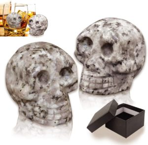 Skull-shaped whiskey stones can be used for your Death Eater themed cocktails