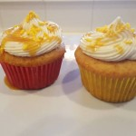 Two Butterbeer Cupcakes