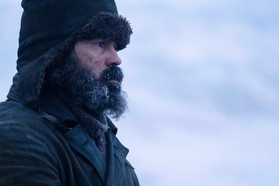 "Colin Farrell is pictured looking pretty chilly in a film still from ""The North Water""."