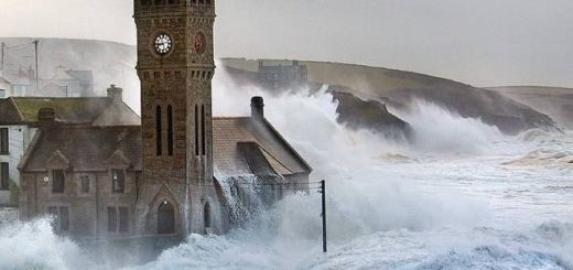 "This picture of Cornish flooding represents one of the scenes in ""Troubled Blood"""