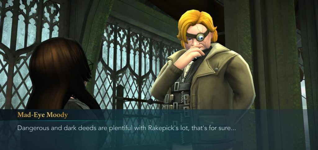 Mad-Eye Moody speculates on the dirty deeds dark doers do dirt cheap.