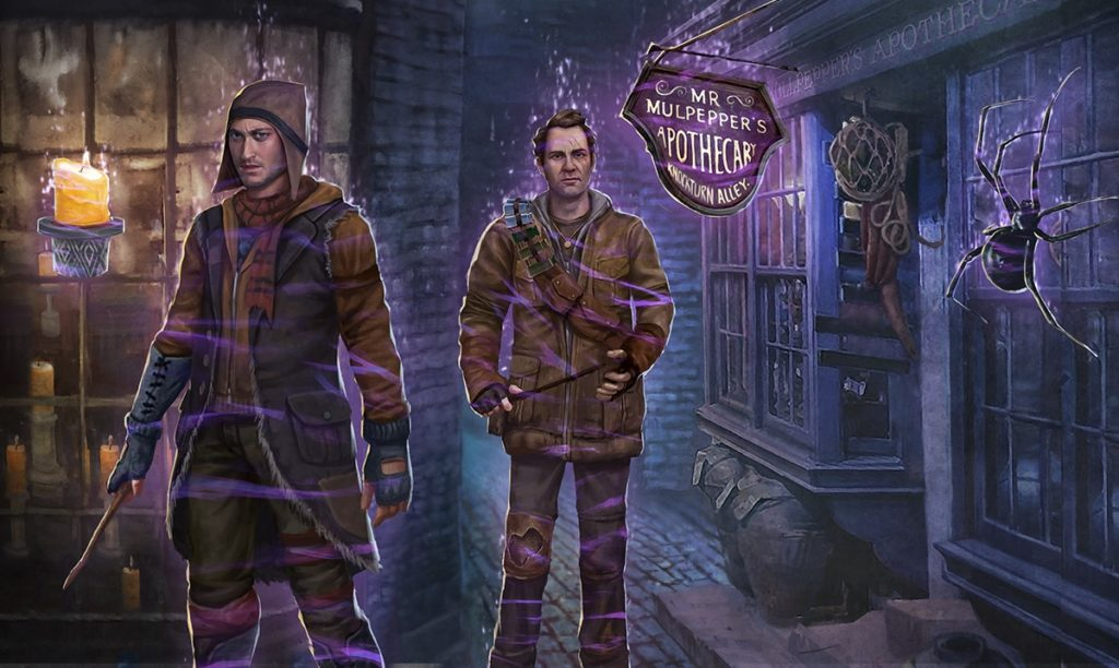 "Pictured is a graphic for Part 1 of the Darkness Rising Brilliant Event in ""Harry Potter: Wizards Unite""."