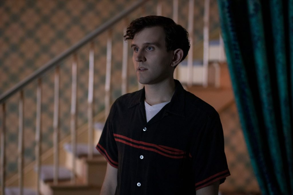 """Harry Melling is pictured in a still from """"The Queen's Gambit""""."""