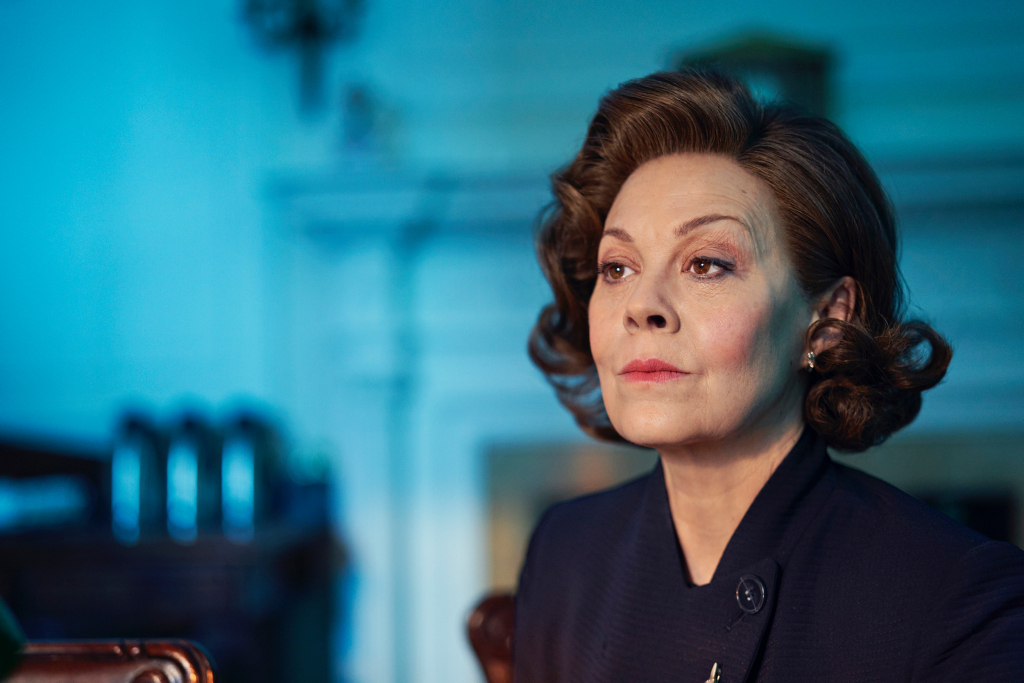 "Helen McCrory is pictured in a first-look image from ""Roadkill""."