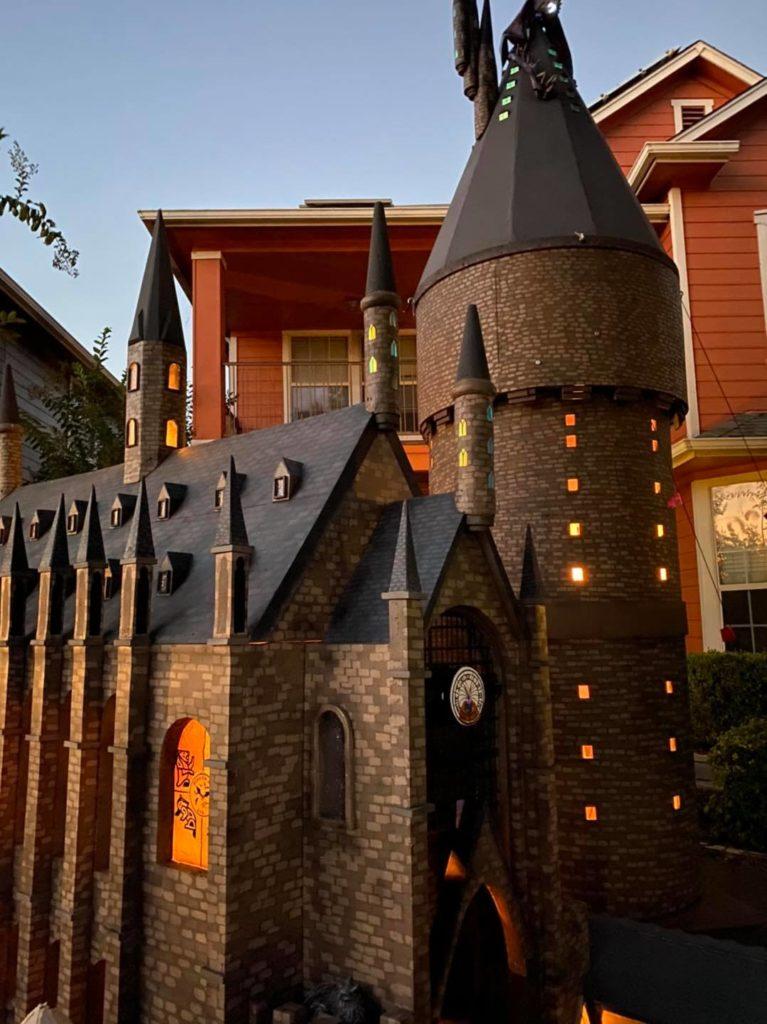 Hogwarts Halloween display