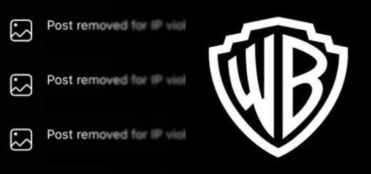 An Instagram notice screenshot is pictured beside the current Warner Bros. logo as a featured image.