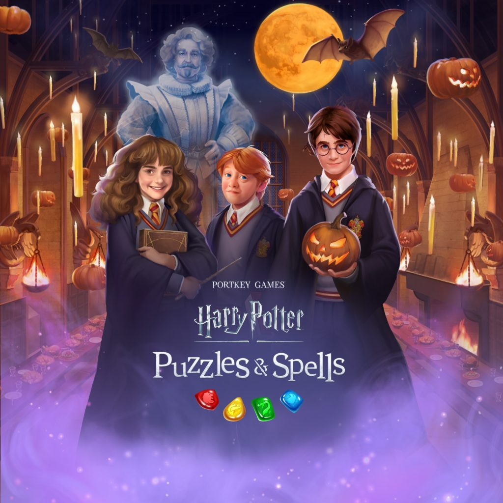 """Puzzles & Spells"" has updated its loading screen with a Halloween theme."
