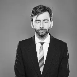 """David Tennant is pictured in an image from the """"Take a Moment"""" campaign."""