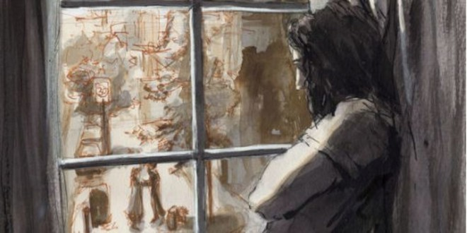 Featured Image: Illustration of Sirius Black staring out a window