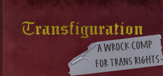"The album cover of ""Transfiguration: A Wrock Comp for Trans Rights"" is shown as a featured image."