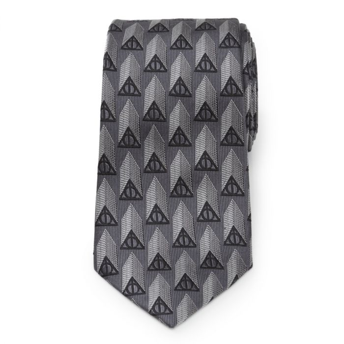Deathly Hallows gray tie pattern from Cufflinks