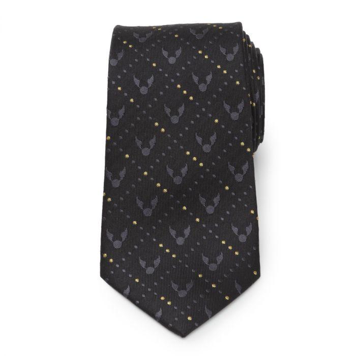 Golden Snitch black tie pattern from Cufflinks