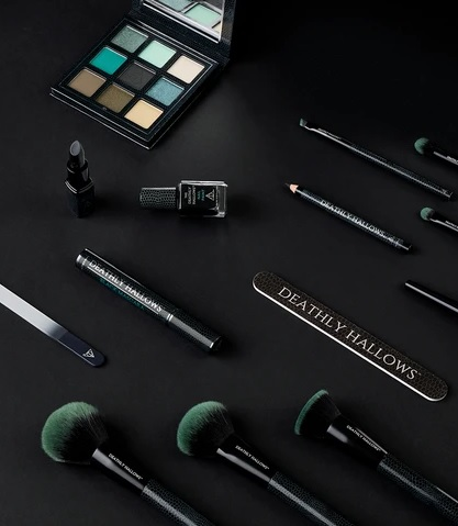 Pictured is a Deathly Hallows makeup set from Barry M.