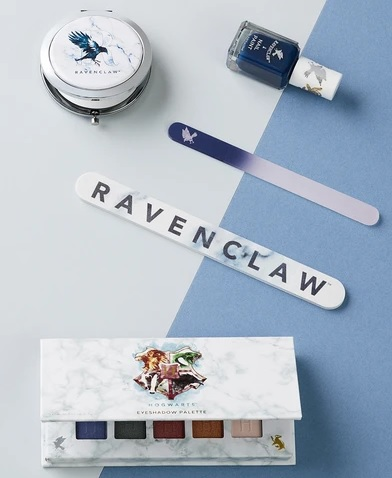 Pictured is a Ravenclaw makeup set from Barry M.