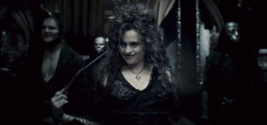 Bellatrix Lestrange and Death Eaters appear in the room of requirement and they are very scary.