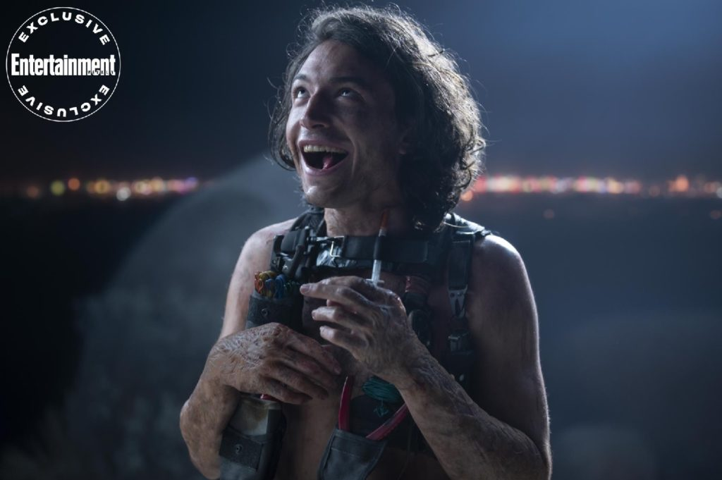 "Ezra Miller looks delightfully disturbing in a first-look image from ""The Stand."""