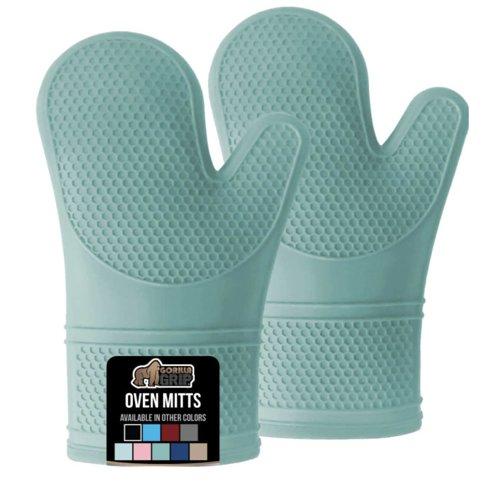 These are non-slip oven mitts.