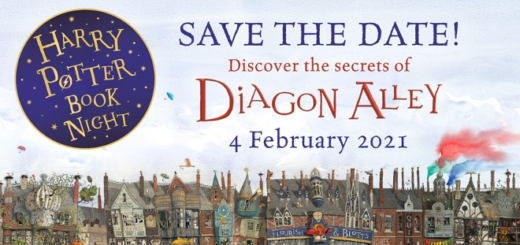 "A featured image of a ""save the date"" banner for Harry Potter Book Night 2021 is shown."