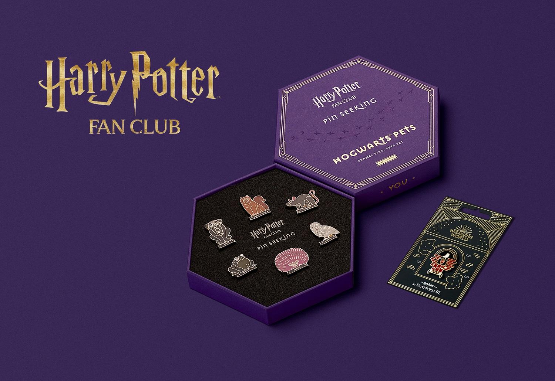 Harry Potter Fan Club Hogwarts Pets Set and Platform 9 3/4 pin