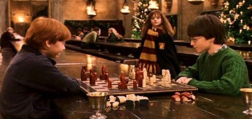 Harry and Ron are playing wizards' chess.
